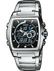 Casio EFA120D-1A Edifice Mens 100M Stainless Steel Dress Watch Thermometer NEW