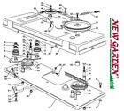 Clutch Exploded View Blade 40 3 16in XT175HD Mower Lawn Mower Castelgarden Parts