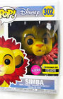 Simba Lion King Exclusive Flocked Funko POP Entertainment Earth