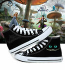 New Alice in Wonderland Symbol Cheshire cat cosplay canvas casual sneakers anime