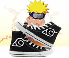 anime N aruto shuriken logo High top Cosplay canvas shoes Stylish black sneakers