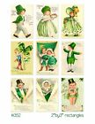 9 Vintage St Patricks Day Children Hang Tags Scrapbooking Paper Crafts 134