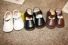 Toddler Girls Solid Mary Jane Squeaky Shoes Brown White Black Red