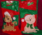 HOLIDAY PET CHRISTMS STOCKING ** CAT OR DOG ** NEW ** SO PRETTY *