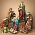 DELUXE HAND PAINTED 223 7 PIECE RESIN NATIVITY SET CHRISTMAS HOLIDAY DECOR