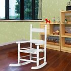 White Practical Home Wooden Kids Rock Chair Bentwood Lounge Chair Furniture Tool