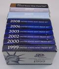 1999 2011 US Mint Proof Sets Lot of 9 No 2001 2003 2004 2007 Set Included