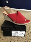 Liz Claiborne BEAUTY Red Wedge Espadrille Sandal NEW BOX Size 8 1 2 M