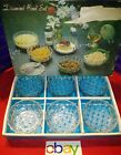 BEAUTIFUL Vintage 6 pc DIAMOND Bowl Set GLASS CRYSTAL Clear Glass NEW IN BOX