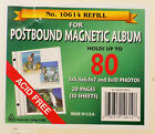 Large 3 Ring Post Bound Album 40 Pages 20 SHEETS Refill 10614 ACID FREE NIP