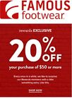 Famous footwear 20 off coupon