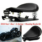 Black SOLO Seat 3 Spring Bracket Base Kit For Harley 48 Sportster XL883 1200 US
