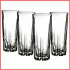 Glassware Set Premium Clear Acrylic Plastic Unbreakable Glasses 16 Oz Clear New