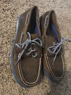 Sperry Top Sider Mens 75 blue and brown boat shoe