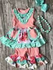 NWT Luxe Lou boutique floral ruffle girls outfit WINTER SALE