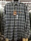 NWT Carhartt Mens 100 Cotton LS Flannel Button Down Size Small Blue S137NVY