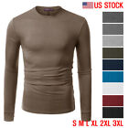 FINAL SALEDoublju Mens Long Sleeve Half Turtle Neck Split Hem T shirt