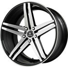 22 VERDE V39 PARALLAX MACHINED BLACK WHEELS FOR LEXUS RX350 RX450h