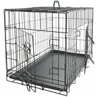 Extra Large Dog Kennel Crate 36 Folding Cage Doors Metal ABS Tray Pad XL New
