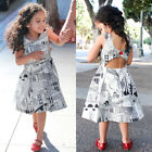 Newborn Kid Baby Girl Art Floral Party Pageant Tutu Prom Dress Clothes US Stock