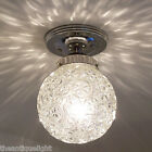 712 Vintage Geometric Ceiling Light Lamp Fixture chrome bath hall more available