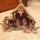 FONTANINI NATIVITY 12 Piece Nativity Set with Large 12 Stable 5 Scale