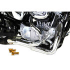 V Twin Chrome 2 Into 1 Lake Side Exhaust Pipe for 2014 2018 Harley Sportster