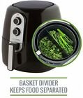 5.2L XL Air Fryer with Cooking Divider Rack Recipe Book Deluxe 60 Minute Timer