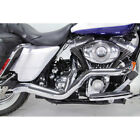 Chrome 2 Into 1 Hot Rod Custom Exhaust for 2007 2016 Harley Touring Models
