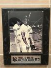 Willie Mayes New York Giants 1951 Rookie Signed Framed Plaque Photograph COA