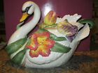 Large Fitz & Floyd Tulip Swan Soup Tureen w/ ladle in box Good Condition Lovely