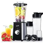 Stylish Personal Blender w/Travel Lid Two Travel Sport Bottles Black Useful