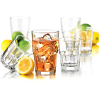 Clear Drinking Glassware Set 16 Piece Glass Water Beverage Cups 16 oz