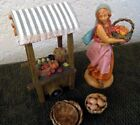 Fontanini Nativity 5 Figures Rachel  Fruit Vegetable Cart Stand Accesories