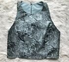 NWT Alice + Olivia Womens Size 10 Blouse Zipper Back Sleeveless Crop Top Holiday