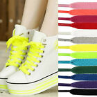 1 Pair Flat Colourful Athletic Sneaker Shoe Laces strings Shoelaces Bootlaces WO