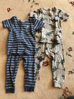 Carters 12 Months Boy Dinosaur Pajamas 2 Sets