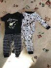 Carters 12 Months Boy Space Pajamas 2 Sets