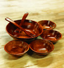 Handmade Cherry 7 Piece Wood Salad Bowl Set