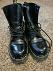 Doc Martens Black Patent Leather Boots unisex US 9 or UK 41