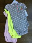 Nwt Carters Baby 6mos short sleeve multicolor polka dot Bodysuits One piece