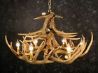 Cast Whitetail 12 Antler Chandelier Rustic Cabin Lighting Made In USA