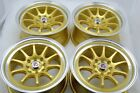 15 gold Wheels Accord Cooper Miata Civic Cobalt Integra Yaris 4x100 4x114.3 Rims