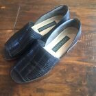 Naturalizer Shoes Slip On Flats Black Braided Women 6 1 2 Excellent
