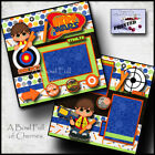 NERF GUNS 2 PREMADE SCRAPBOOK PAGES Paper printed layout TOYS boy BY CHERRY