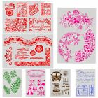 Layering Stencils Template Stamp Embossing Walls Painting Scrapbook Paper Decor