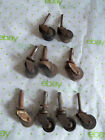 Old Salvaged Furniture Wheels / Casters, 7 Wooden, 2 Plastic
