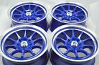 15 blue Wheels Yaris Civic Cooper Accord Integra CL Ion iQ XB 4x100 4x1143 Rims