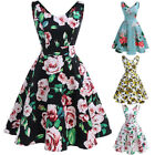 Retro Women 50s Vintage Floral Style Rockabilly Lady Cocktail Party Swing Dress