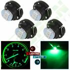 4PCS Green 3SMD LED Neo Wedge T5 T47 Car A C Heater Climate Control Lights Lamp